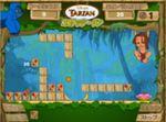 ターザンのココナッツピンポンパズルゲーム