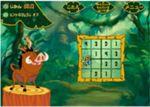 ティモンとプンバァの数字をいれていく虫食いクイズゲーム
