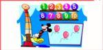 ミッキーと風船の数をかぞえるゲーム
