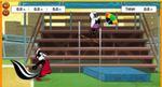 ペペ・ル・ピューの走り高跳びゲーム